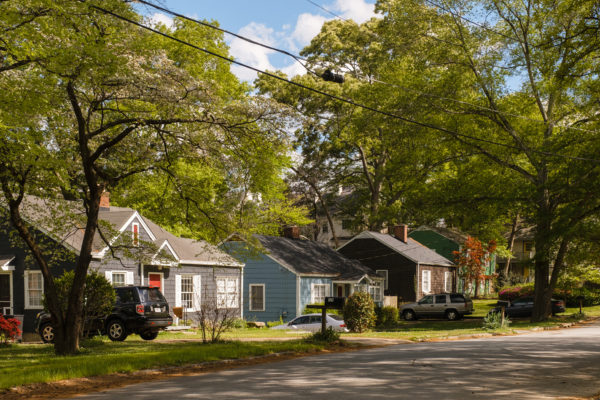 beautiful Decatur tree-lined bungalows