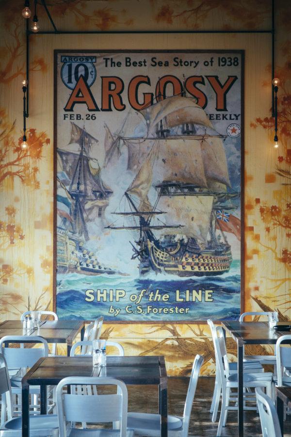 Argosy poster inside cafe