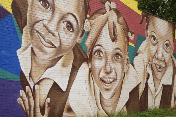 East Atlanta mural of faces