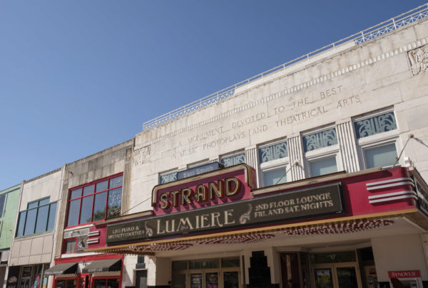 outside facade of strand theater