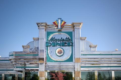 exterior of marietta diner sign