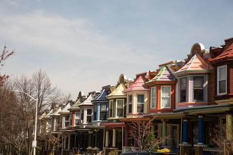 Painted Rowhouses,