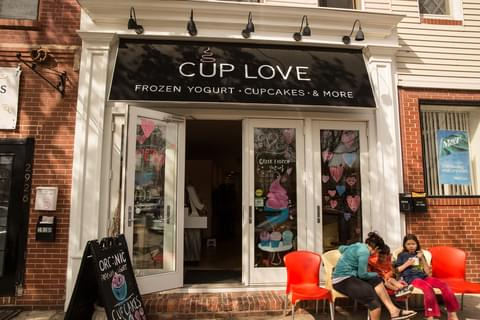 Grab some Greek frozen yogurt or a cupcake at <a href='http://www.cup-love.com/' target='_blank' rel='nofollow noopener noreferrer'>Cup Love</a> before walking along Canton's waterfront park.