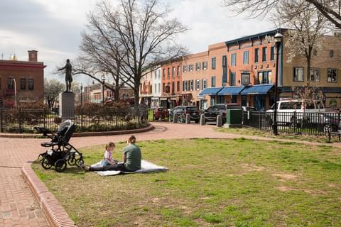 Canton's parks combine greenery with the rich history of Baltimore