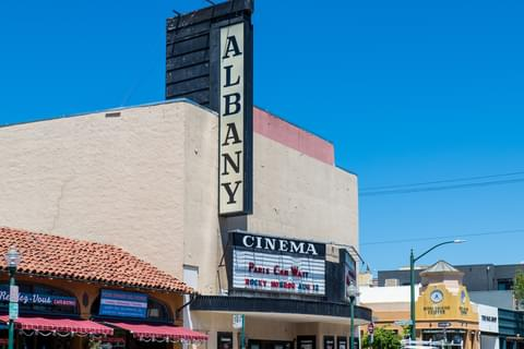 <a href='https://www.landmarktheatres.com/san-francisco-east-bay/albany-twin' target='_blank' rel='nofollow noopener noreferrer'>Albany Twin Cinema</a> screens blockbusters, as well as indie films and avant-garde movies.