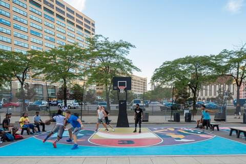 Cadillac Square Basketball Courts,