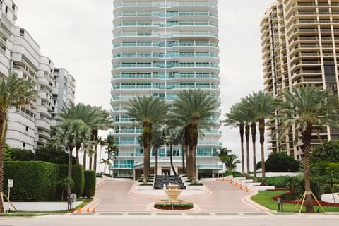 Bal Harbour's beachside is lined with mega condos.
