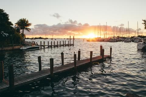 Sunsets in Coconut Grove,