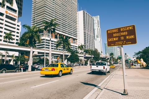 Biscayne Boulevard in Miami,
