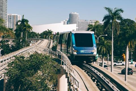 Downtown Miami's Metrorail,