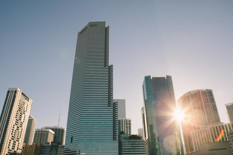 Downtown Miami's Financial District ,