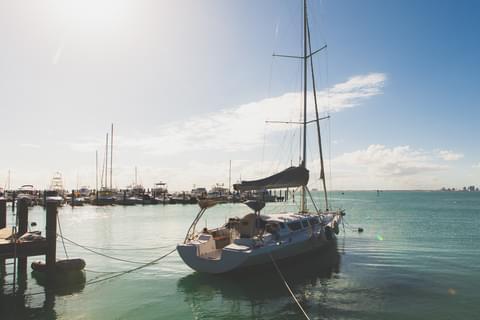 Boating in Key Biscayne ,