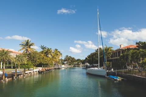 Waterways in Key Biscayne ,
