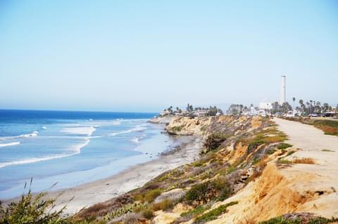 Watch the surfers below from atop the cliffs in Carlsbad or just enjoy the seabreeze.