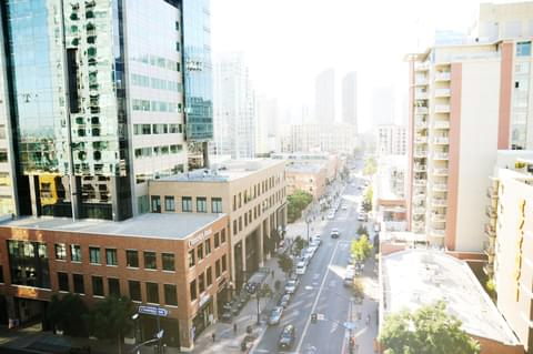 20 years of redevelopment have transformed once-dilapidated East Village into a bustling hub of new apartments, trendy shops and restaurants, and Petco Park, home of the San Diego Padres.