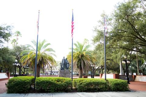 Immigrant Statue, Centennial Plaza,