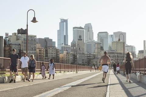 Downtown Minneapolis is the cultural and economic center of the Twin Cities, home to many Fortune 500 companies, high-rise apartments and condominiums, and urban dining and entertainment options, ideal for residents seeking a walkable way of life.